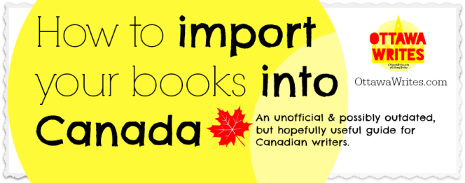 How to import books into Canada